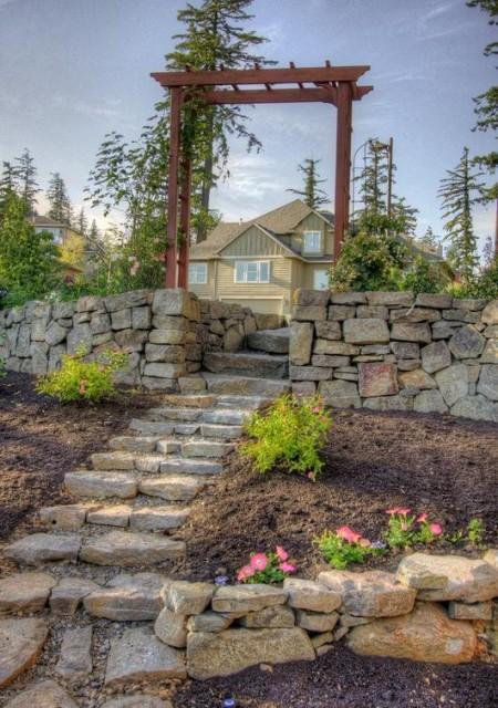 Poze Alei - Aleie in gradina din piatra naturala