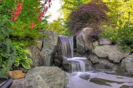 Poze Cascada si iaz - Cascada de gradina