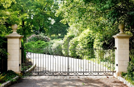 Poze Garduri si porti - Poarta decorativa din fier forjat