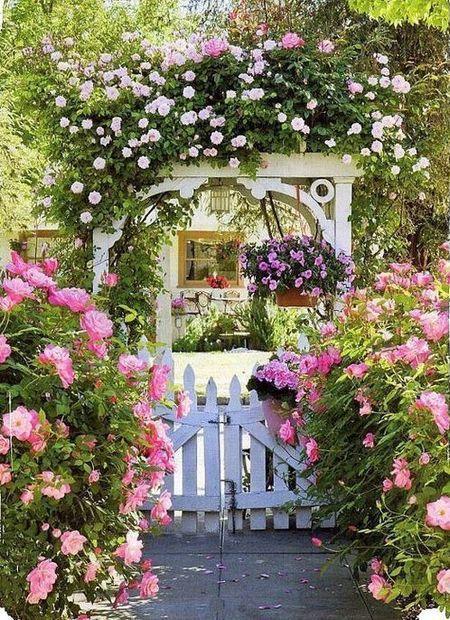 Poze Gradina de flori - Stilului shabby-chic ii sta foarte bine si in gradina!