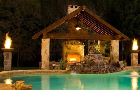 Poze Piscina - Apa, aer, foc si pamant in amenajarea piscinei