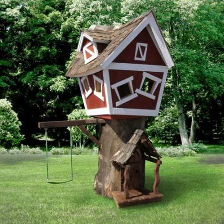 Poze Locuri de joaca - Casuta din copac, locul perfect de joaca pentru copii