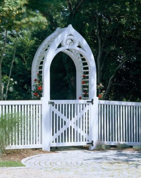 Poze Garduri si porti - Gard si poarta decorativa din lemn pentru gradina
