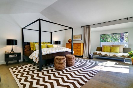 Poze Dormitor - Pat dormitor negru