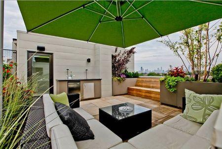 Poze Terasa - Spatiu de relaxare pe acoperisul unui bloc din Chicago