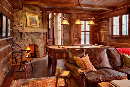 Poze Case lemn - Camera de relaxare intr-o cabana din lemn masiv