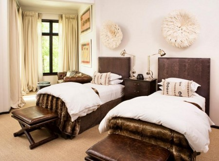Poze Dormitor - Influente africane in dormitor