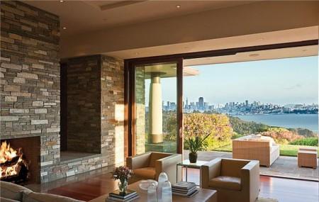 Poze Living - Imagine living Ring Mountain Residence, Sutton Suzuki Architects