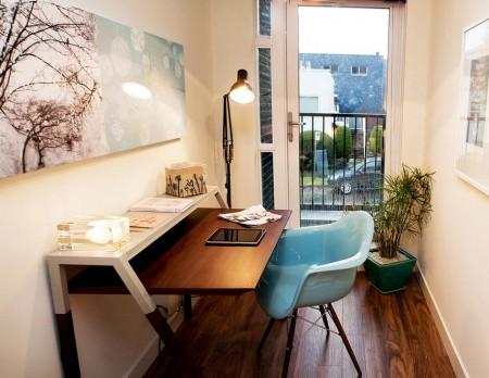 Poze Birou si biblioteca - Mic birou pentru munca de acasa