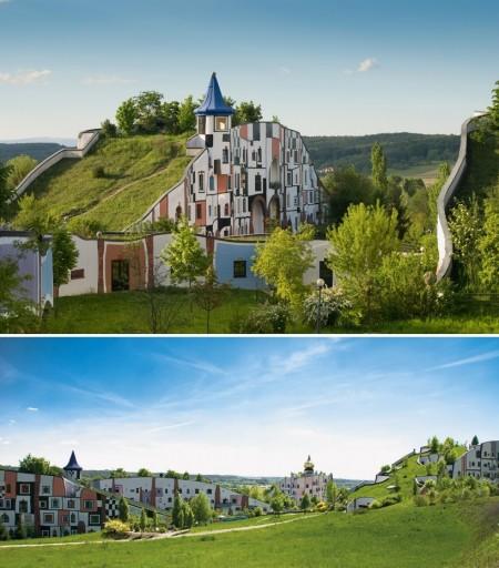 Poze Fatade - Arhitectura eco la complexul balnear Rogner Bad Blumau