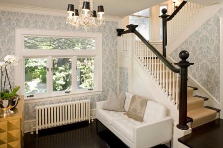 Poze Scari - Scara interioara in contrast de culori - Lucy Interior Design