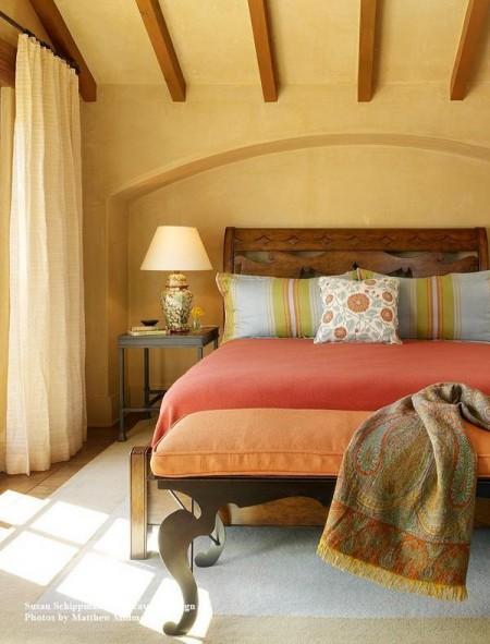 Poze Dormitor - Dormitor decorat in stil mediteranean