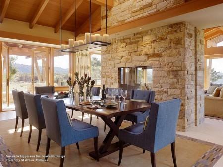 Poze Sufragerie - Sufragerie moderna finisata cu materiale naturale