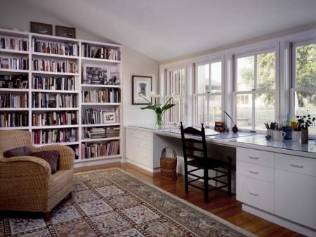 Poze Birou si biblioteca - Biroul de la mansarda
