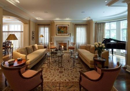 Poze Living - Living formal amenajat in stil clasic