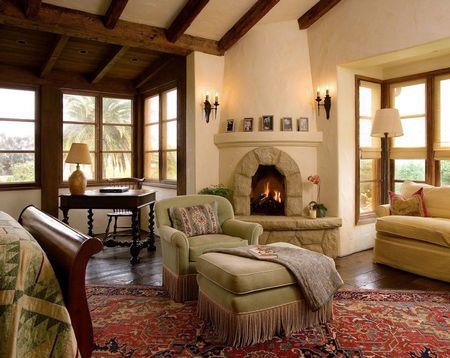 Poze Seminee - Decor rafinat dintr-o casa naturala construita din lemn si lut