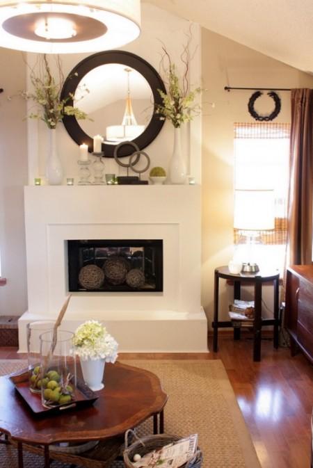 Poze Seminee - Semineu decorativ modern