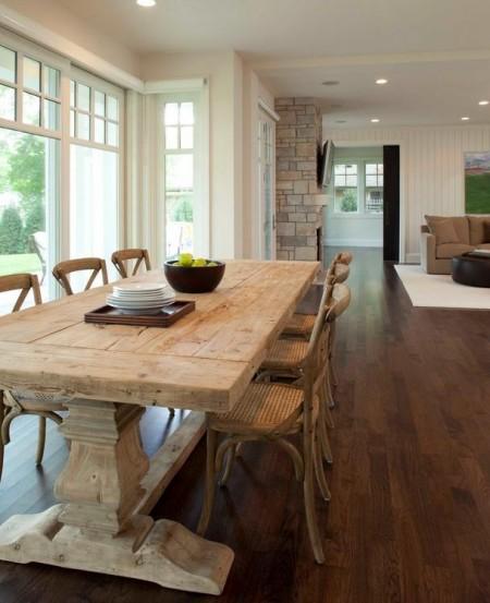 Poze Sufragerie - Masa din lemn masiv