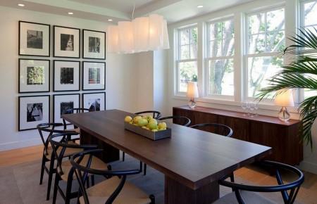 Poze Sufragerie - Decorarea cu tablouri a unui perete gol