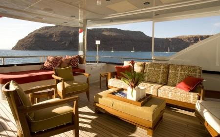 Poze Terasa - Panorama de vis de pe terasa yacht-ului