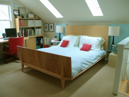 Poze Dormitor - Dormitor si spatiu de lucru modern