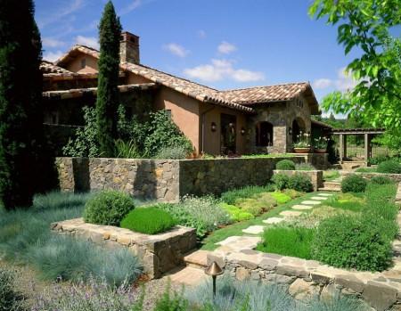 Poze Gradina de flori - Amenajare exterioara in stil mediteranean