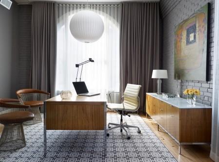 Poze Birou si biblioteca - Amenajare moderna pentru biroul de acasa