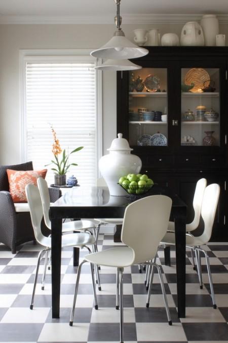 Poze Sufragerie - Alb si negru intre retro si modern