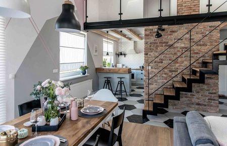 Poze Sufragerie - Eleganta si sensibilitate intr-o sufragerie moderna open-space