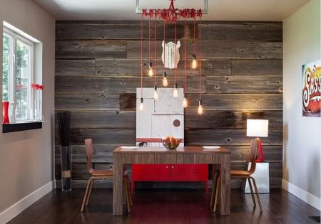 Poze Sufragerie - Sufragerie moderna, minimalista, cu elemente de decor naturale