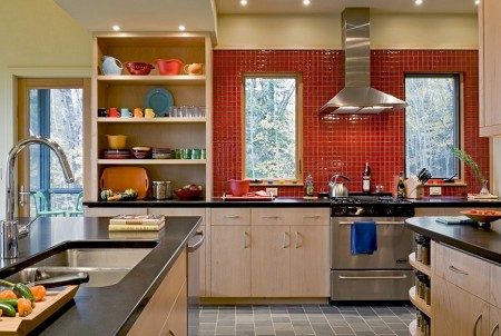 Poze Bucatarie - Culorile joaca un rol important in bucataria moderna