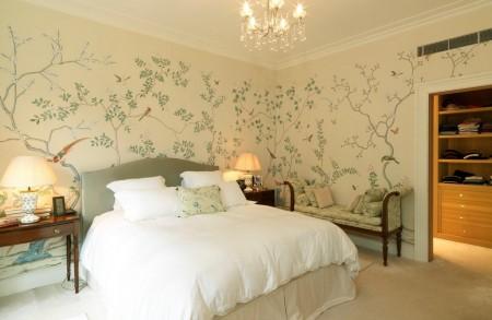 Poze Dormitor - Tapet cu tema din natura in dormitor