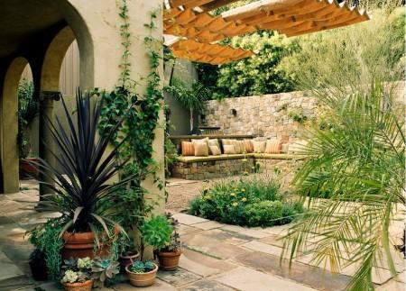 Poze Gradina de flori - Amenajare exterioara in stil meditereanean