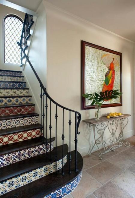 Poze Scari - Scara interioara in stil rustic mediteranean