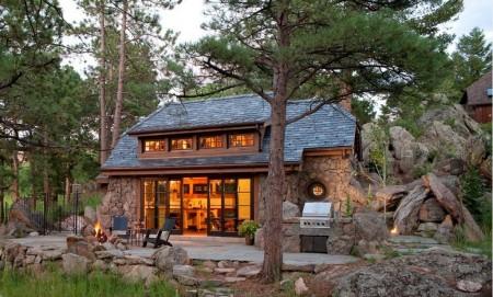 Poze Terasa - Terasa casa rustica din piatra