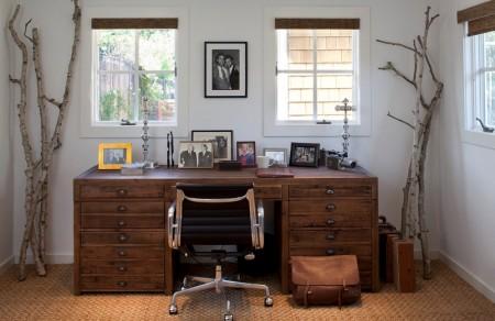 Poze Birou si biblioteca - Decor rustic pentru biroul de acasa