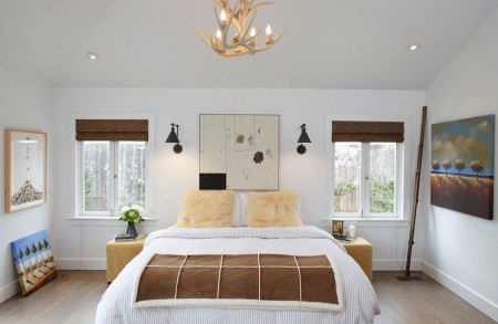 Poze Dormitor - Dormitor modern cu elemente rustice