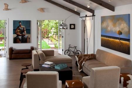 Poze Living - Living modern cu elemente ce evoca viata la tara