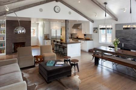 Poze Living - Bucataria, sufrageria si livingul in locuinta moderna