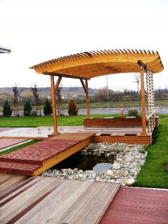 Poze Foisor si pavilion - Podet si foisor din lemn