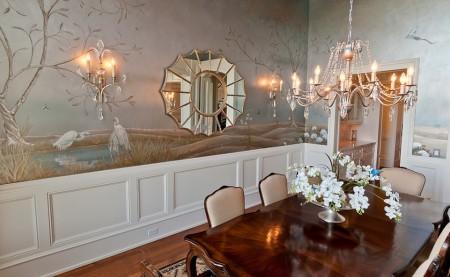 Poze Sufragerie - Motive din natura pictate pe pereti