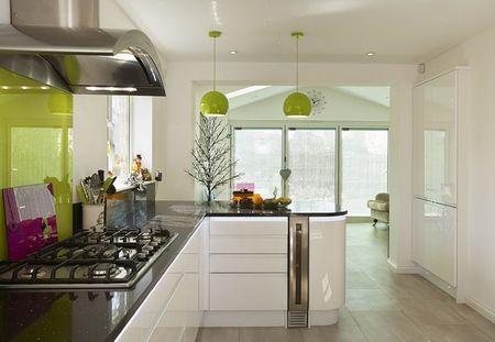 Poze Bucatarie - verde-bucatarie-minimalista.jpg