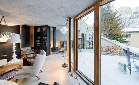 Poze Living - Peretele de sticla extinde spatiul interior spre terasa ampla si peisajul superb