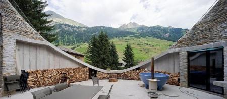 Poze Terasa - Terasa semicirculara casa de vacanta in Alpi