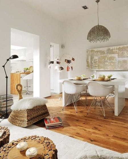 Poze Sufragerie - Loc de servit masa modern, cu cateva elemente rustice
