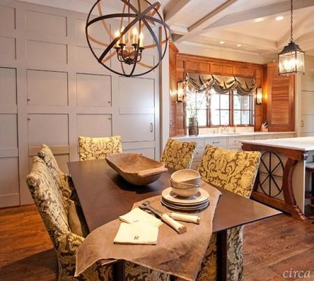 Poze Sufragerie - Decor cu accente rustic