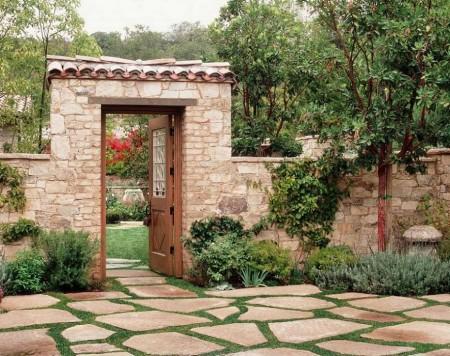 Poze Garduri si porti - Gard si portic din piatra naturala