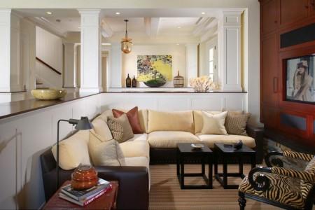 Poze Living - Zona de zi deschisa, decorata eclectic