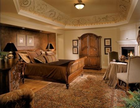Poze Dormitor - Un somptuos dormitor clasic