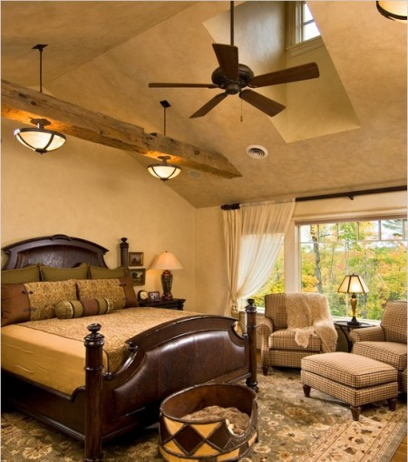 Poze Dormitor - Dormitor clasic cu o superba vedere spre padure